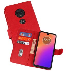 Bookstyle Wallet Cases Hoesje Moto G7 Rood
