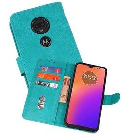 Motorola Moto G7 Hoesje Kaarthouder Book Case Telefoonhoesje Groen
