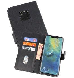 Huawei Mate 20 Pro Hoesje Kaarthouder Book Case Telefoonhoesje Zwart
