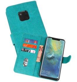 Huawei Mate 20 Pro Hoesje Kaarthouder Book Case Telefoonhoesje Groen