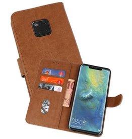 Huawei Mate 20 Pro Hoesje Kaarthouder Book Case Telefoonhoesje Bruin
