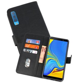 Samsung Galaxy A7 2018 Hoesje Kaarthouder Book Case Telefoonhoesje Zwart