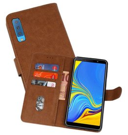 Bookstyle Wallet Cases Hoesje Galaxy A7 2018 Bruin