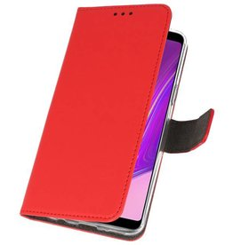 Wallet Cases Hoesje Samsung Galaxy A9 2018 Rood