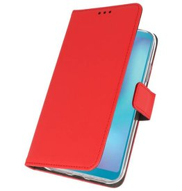 Wallet Cases Hoesje Samsung Galaxy A6s Rood