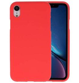 BackCover Hoesje Color Telefoonhoesje iPhone XR - Rood