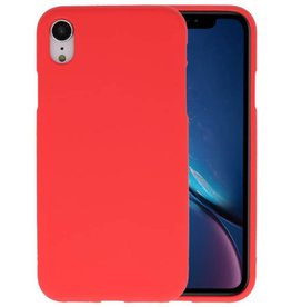Color TPU Hoesje iPhone XR Rood