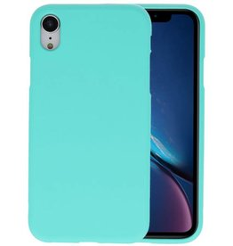 Color TPU Hoesje iPhone XR Turquoise