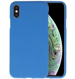 Color TPU Hoesje iPhone XS / X Navy