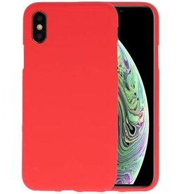 BackCover Hoesje Color Telefoonhoesje iPhone XS / X - Rood