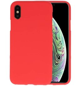 Color TPU Hoesje iPhone XS / X Rood