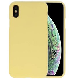 BackCover Hoesje Color Telefoonhoesje iPhone XS / X - Geel