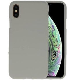 Color TPU Hoesje iPhone XS / X Grijs