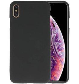 BackCover Hoesje Color Telefoonhoesje iPhone XS Max - Zwart
