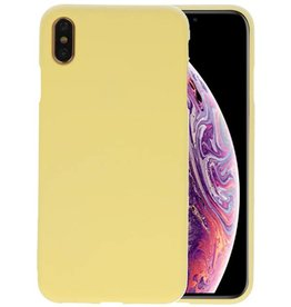 Color TPU Hoesje iPhone XS Max Geel