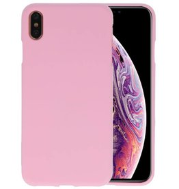 Color TPU Hoesje iPhone XS Max Roze