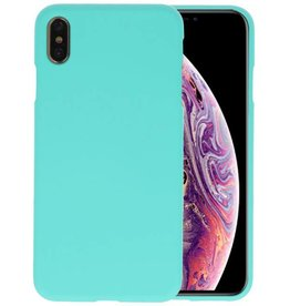 BackCover Hoesje Color Telefoonhoesje iPhone XS Max - Turquoise