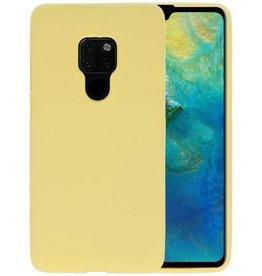 BackCover Hoesje Color Telefoonhoesje Huawei Mate 20 - Geel