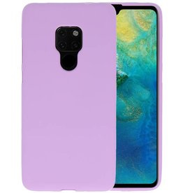 Color TPU Hoesje Huawei Mate 20 Paars