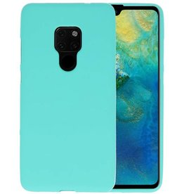 BackCover Hoesje Color Telefoonhoesje Huawei Mate 20 - Turquoise