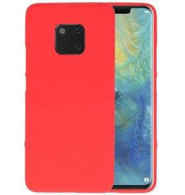 BackCover Hoesje Color Telefoonhoesje Huawei Mate 20 Pro - Rood