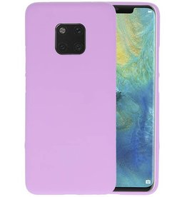 Color TPU Hoesje Huawei Mate 20 Pro Paars