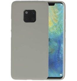 BackCover Hoesje Color Telefoonhoesje Huawei Mate 20 Pro - Grijs