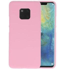 BackCover Hoesje Color Telefoonhoesje Huawei Mate 20 Pro - Roze