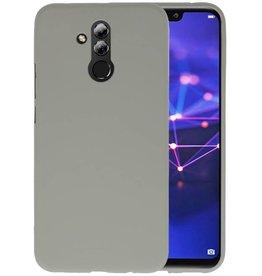 BackCover Hoesje Color Telefoonhoesje Huawei Mate 20 Lite - Grijs