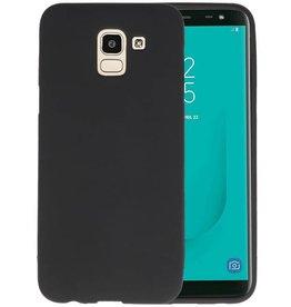 Color TPU Hoesje Samsung Galaxy J6 Zwart