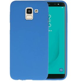 Color TPU Hoesje Samsung Galaxy J6 Navy