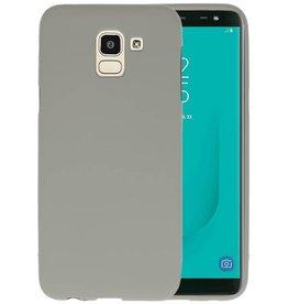 BackCover Hoesje Color Telefoonhoesje Samsung Galaxy J6 - Grijs