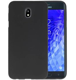 Color TPU Hoesje Samsung Galaxy J7 2018 Zwart