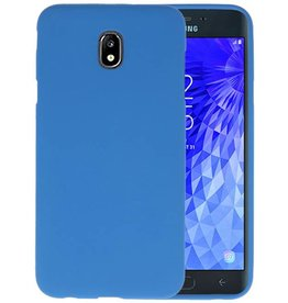 Color TPU Hoesje Samsung Galaxy J7 2018 Navy
