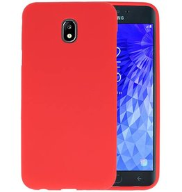 Color TPU Hoesje Samsung Galaxy J7 2018 Rood