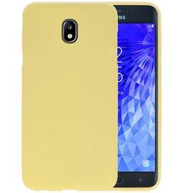 Color TPU Hoesje Samsung Galaxy J7 2018 Geel
