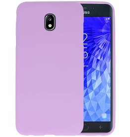 Color TPU Hoesje Samsung Galaxy J7 2018 Paars