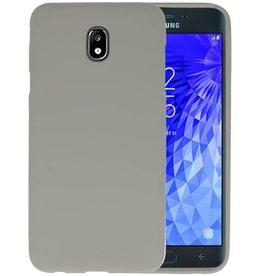 BackCover Hoesje Color Telefoonhoesje Samsung Galaxy J7 2018 - Grijs