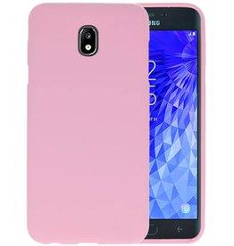 BackCover Hoesje Color Telefoonhoesje Samsung Galaxy J7 2018 - Roze