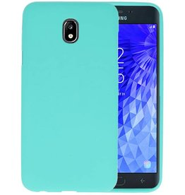 Color TPU Hoesje Samsung Galaxy J7 2018 Turquoise