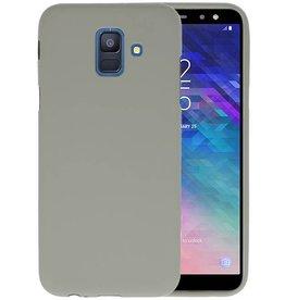 BackCover Hoesje Color Telefoonhoesje Samsung Galaxy A6 2018 - Grijs