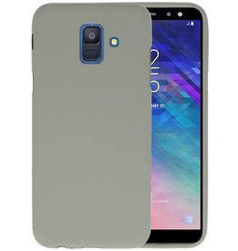 Color TPU Hoesje Samsung Galaxy A6 2018 Grijs