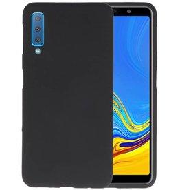 BackCover Hoesje Color Telefoonhoesje Samsung Galaxy A7 2018 - Zwart