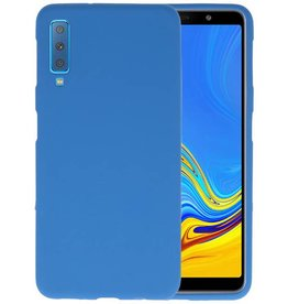 Color TPU Hoesje Samsung Galaxy A7 2018 Navy