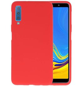 BackCover Hoesje Color Telefoonhoesje Samsung Galaxy A7 2018 - Rood