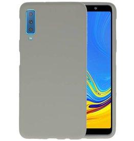 Color TPU Hoesje Samsung Galaxy A7 2018 Grijs