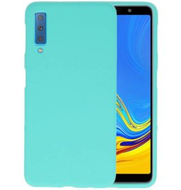 Color TPU Hoesje Samsung Galaxy A7 2018 Turquoise