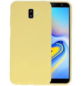 BackCover Hoesje Color Telefoonhoesje Samsung Galaxy J6 Plus - Geel