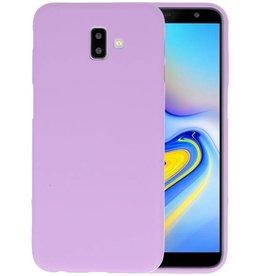 BackCover Hoesje Color Telefoonhoesje Samsung Galaxy J6 Plus - Paars