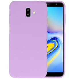 Color TPU Hoesje Samsung Galaxy J6 Plus Paars